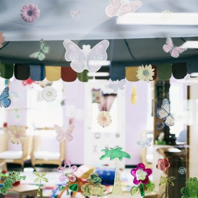 Transitional Infant Spring window display