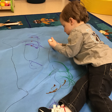 We traced our bodies and painted or colored them! We even traced our stuffed animals if we were feeling a little nervous about being traced. It made us feel so much better!