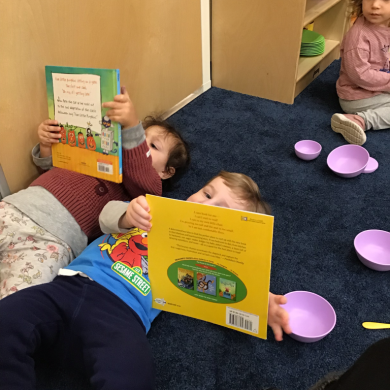 Nothing better than lying down with a good book and a good friend!