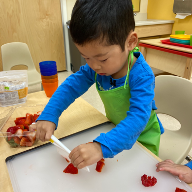 We love when we cook in school because we get the best snacks, but even more we love that we get to make them!