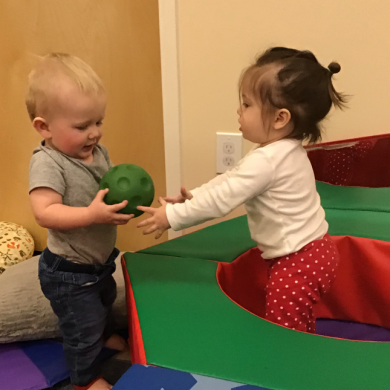 Sharing is caring! Even our infants work on sharing with each other!