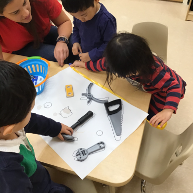 For our Character Essentials program, February focused on getting along. Our students amazed us every day showing how well they get along and love to play with each other! They showed that they can work together to solve a puzzle, which was just one of many ways they should us how important it is to get along with others!