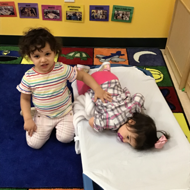 Our teachers are always modeling helping and supporting others. Look at the impact it has on our toddlers!