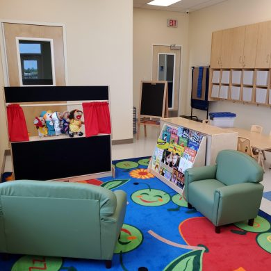 Our state-of-the-art classrooms are outfitted with furniture, toys, learning materials, books, and more!