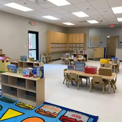 Check out one of our 2 year old classrooms. Photo was taken May 7th, 2021.