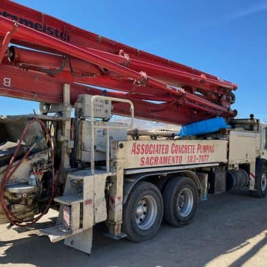 The concrete pump truck has arrived!