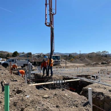 Pumping concrete at Kiddie Academy of South Reno