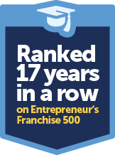 Ranked 17 years in a row on Entrepeneur's franchise 500
