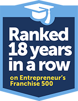 Ranked 18 years in a row on Entrepeneurs franchise 500