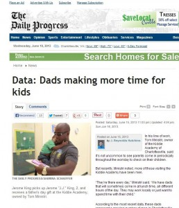 Data  Dads making more time for kids - The Daily Progress  News