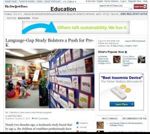 Language-Gap Study Bolsters a Push for Pre-K - NYTimes.com