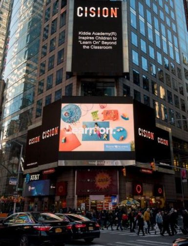 Kiddie Academy's Learn On® promotional campaign launches in January with new videos, print advertising, online and social media marketing, and a prominent billboard display in Times Square in NYC