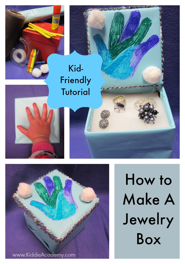 Upcycle a jewelry box Kiddie Academy