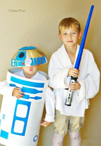 Luke and r2d2 kids costume by yellow pear