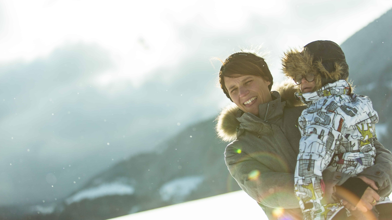 Mre et fils  Villard de Lans dans la neige