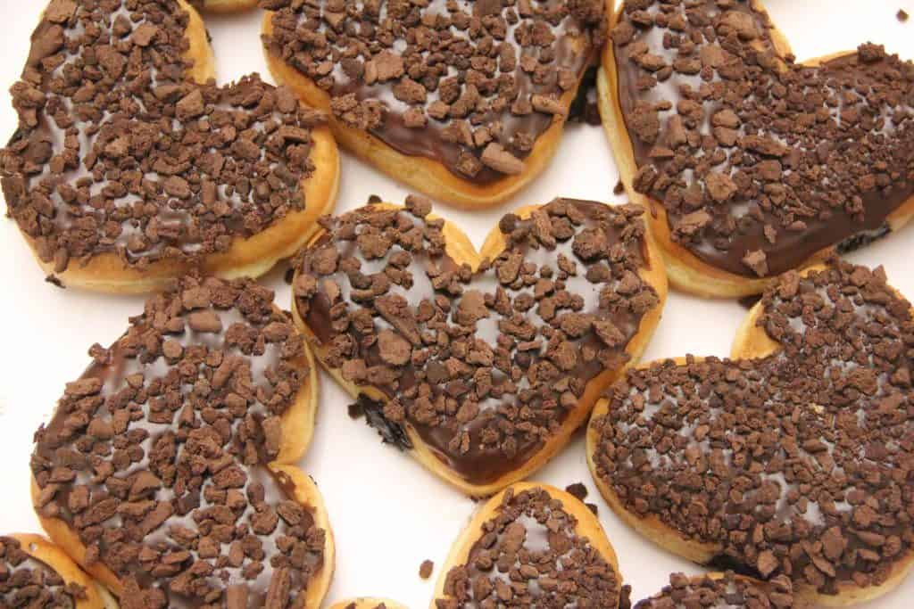Brownie-Batter-Crumble-Heart-Donut