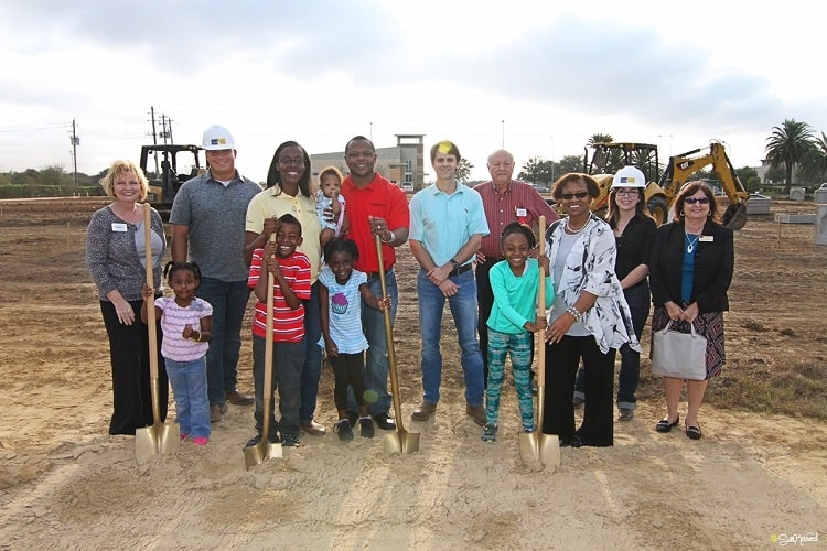 Local business owners, Tymeka and Mewelde Moore, celebrated the groundbreaking of Kiddie Academy of Clear Lake on February 13, 2017