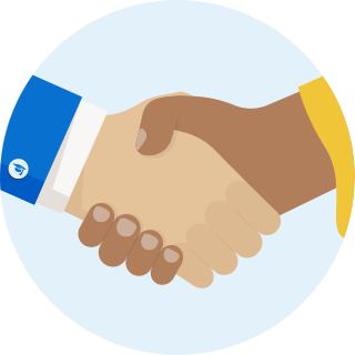 Kiddie Academy handshake icon