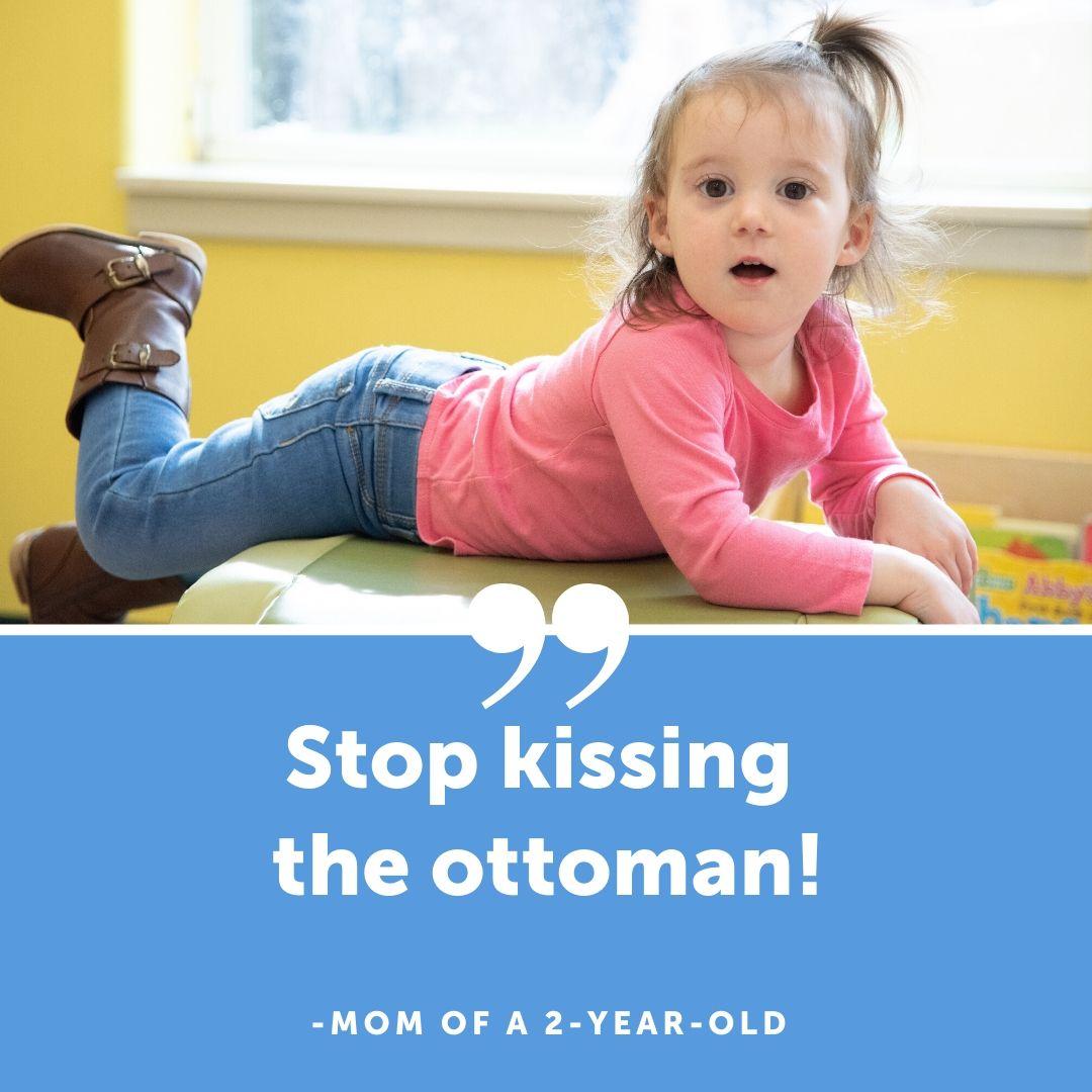 kissing ottoman