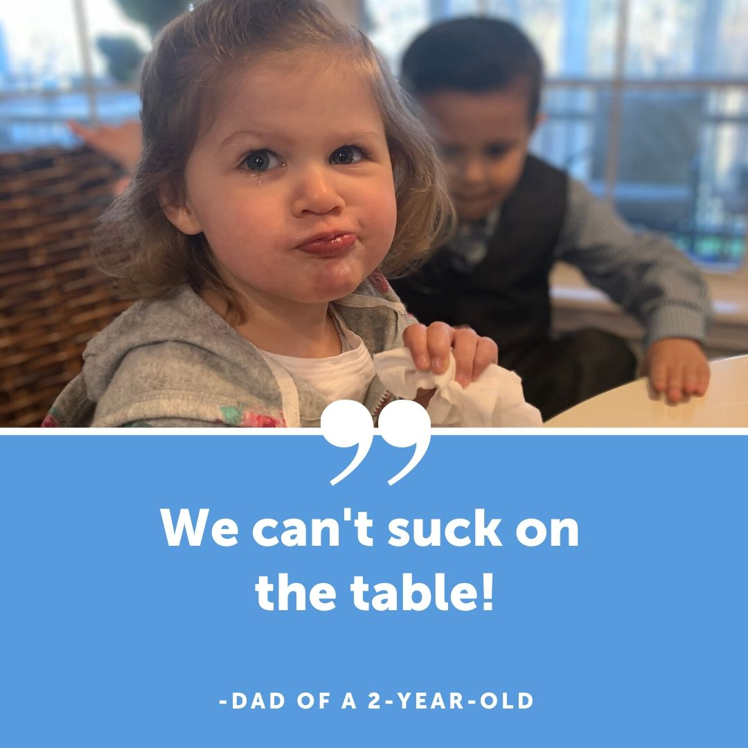 eating table
