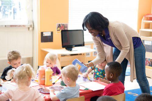 Kiddie Academy preschool teacher